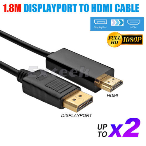 Displayport Display Port DP to HDMI Cable Male to Male Full HD High Speed 1080P