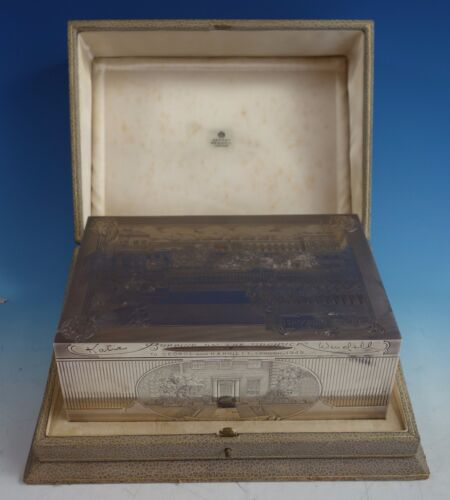 Asprey Sterling Silver Humidor Box Finely Engraved (#1569) Exceptional!