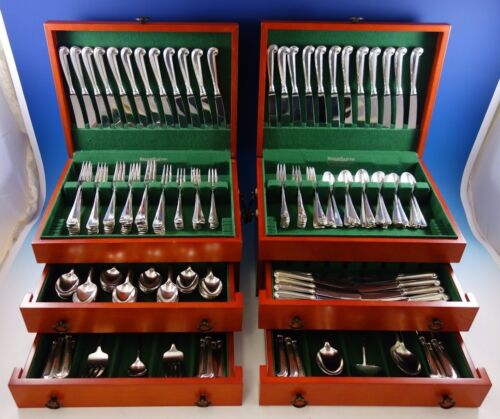 Queen Anne Williamsburg by Stieff Sterling Silver Flatware Set 48 Service 296 Pc