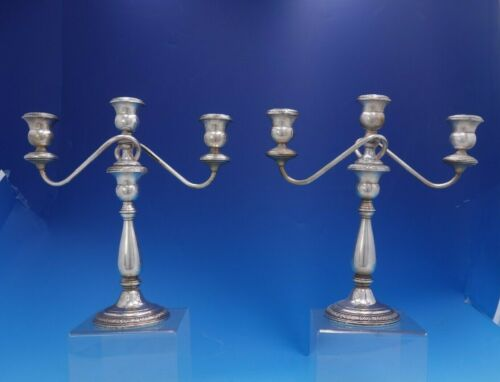 Champlain By Amston Sterling Silver pair of Candelabra #545 Antique (#4021)