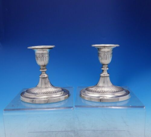 Fordham and Faulkner English Sterling Silver Candlestick Holders c.1904 (#3925)