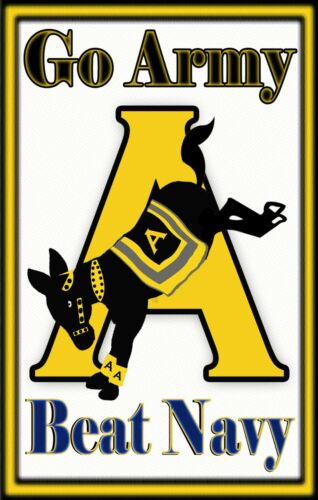 """Go Army! Beat Navy!  Tough, Durable Magnet - 6"""" X 3.75""""Army - 66529"""