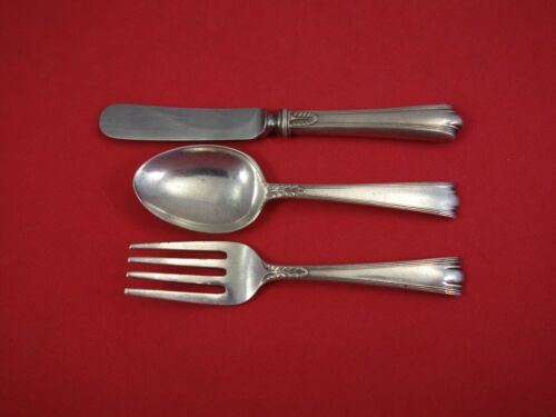 American Directoire by Lunt Sterling Silver Baby Set 3 Piece Vintage