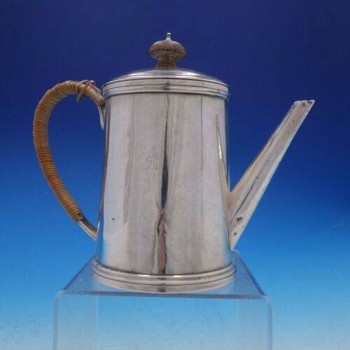 Guillaurme Corne of Paris French Silver Tea Pot with Wood Accents (#4252)