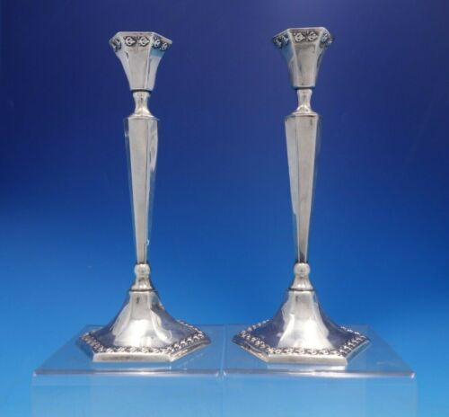 "Judaica by Hazorfim Sterling Silver Candlestick Pair 9 1/4"" x 4 1/2"" (#4070)"