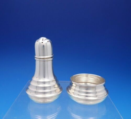 Old Maryland Plain by Kirk Sterling Silver Salt Dip Pepper Set 2pc #195 (#4356)