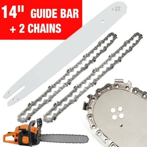 2 CHAINSAW Chains /& 14/'/' Guide Bar For STIHL Chainsaws 017 MS170 HT70 MSE160 !
