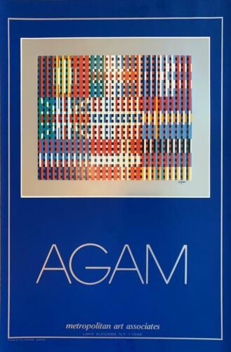 """Yaacov Agam """"Flags of All Nations-Europe"""" Mixed Media Serigraph Poster 37.5x24"""