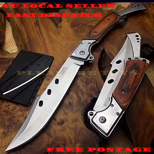 SKINNER Hunting Fixed Blade Knife Combat Bowie Camping Survival Pocket Knife Factory Manufactured - 73522