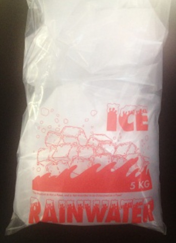 5kg Ice Bags - 330mmW x 600mmL @ 65um Printed ICE Party Food Packaging X 700