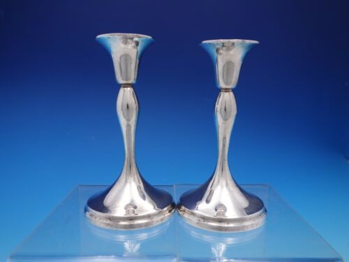 Codan Mexican Sterling Silver Pair of Candlesticks Vintage (#4507)