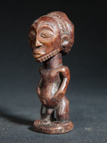 Bembe Miniature Male Ancestor Statue, D.R. Congo, Zambia, African Tribal Art