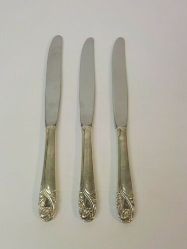 Group/3 International SPRING GLORY Sterling Silver Luncheon/Place Knives
