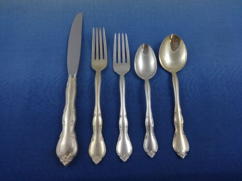 Rose Tiara by Gorham Sterling Silver Flatware Set Service 46 Pieces