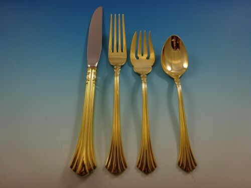 Eighteenth Century Gold by Reed & Barton Sterling Silver Flatware Set Service