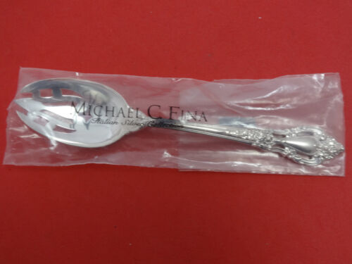 "Eloquence by Lunt Sterling Silver Serving Spoon Pierced Original 8 1/2"" New"