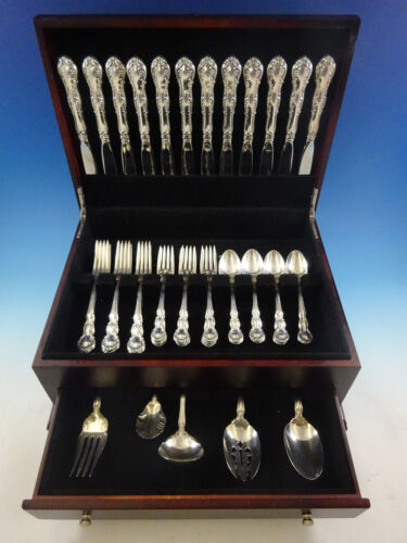 Old Atlanta by Wallace Sterling Silver Flatware Set for 12 Service 53 Pcs Place