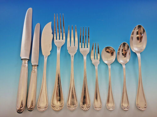 Louis XV Rocaille by Boulenger French Silverplate Flatware Service Set 160 pcs
