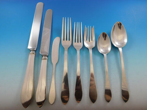 Faneuil by Tiffany & Co. Sterling Silver Flatware Set 8 Service 64 pcs Dinner