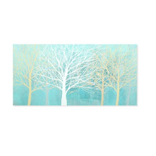 Modern Abstract Oil Painting Hand Painted Wall Art Home Decor Framed Trees