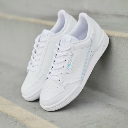 ADIDAS CONTINENTAL 80 TRAINERS GIRLS LADIES WOMENS WHITE SIZE 3 4 5 6 gazelle