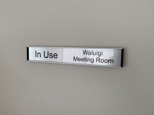Office Door Sign - Sliding In/Out 35mm