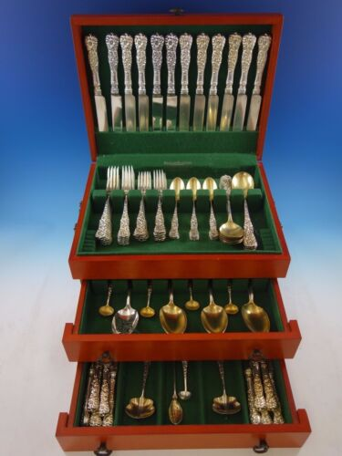 Rococo by Dominick & Haff Sterling Silver Flatware Service Set Dinner 86 Pieces