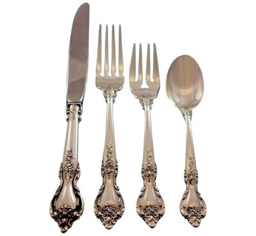 Delacourt by Lunt Sterling Silver Flatware Set for 12 Service 48 Pieces
