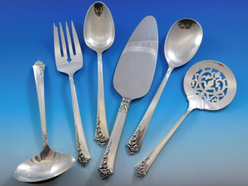 Damask Rose by Oneida Sterling Silver Essential Serving Set Large 6-piece