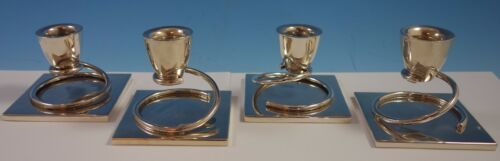 Taxco MV Mexican Mexico Sterling Silver Candlestick Set 4pc (#1970) Modernist