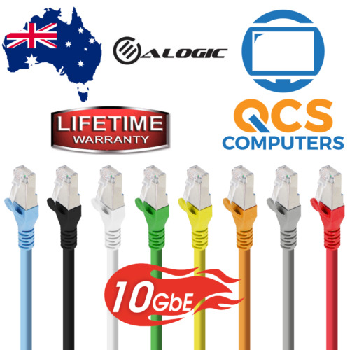Network Cable Shielded CAT6A 10Gbps(10Gbe) / Lifetime Warranty / 0.3m to 10m