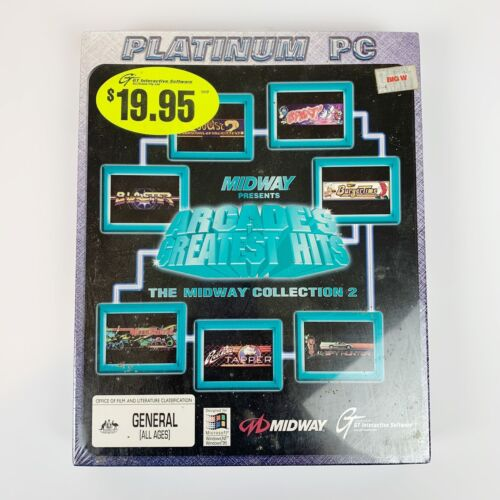 Midway Collection 2 Arcade Vintage 90s Big Box Game *SEALED* CD Rom Platinum PC