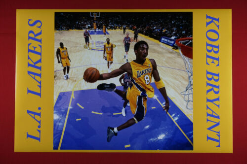 Kobe Bryant L.A. Lakers Slam Dunking Sports Early years #8 Poster 24X36 KOB2