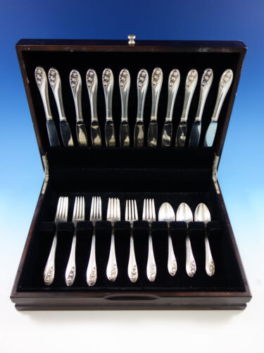 Lily of the Valley by Gorham Sterling Silver Flatware Service for 12 Set 48 pcs