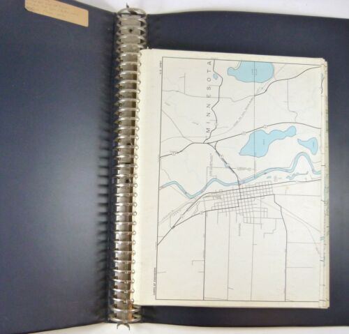 Army Corps of Engineers River Maps Binder Mississippi Minn. St. Paul Dist. 1960s