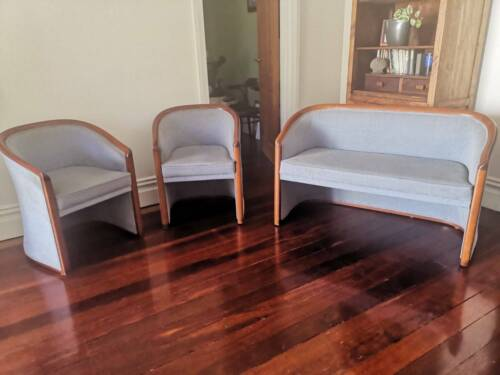 Deco lounge: 2 x single, 1 x double seater, solid timber - beautifully crafted