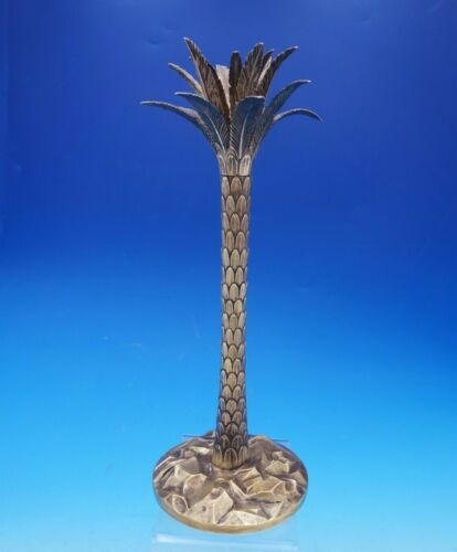"""Palm Tree by Tiffany and Co Sterling Silver Candlestick Vermeil 13 1/2"""" (#4568)"""
