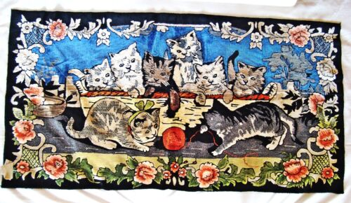 Vintage woven wall tapestry Jacquard plush wall panel Oriental style New w/ tag