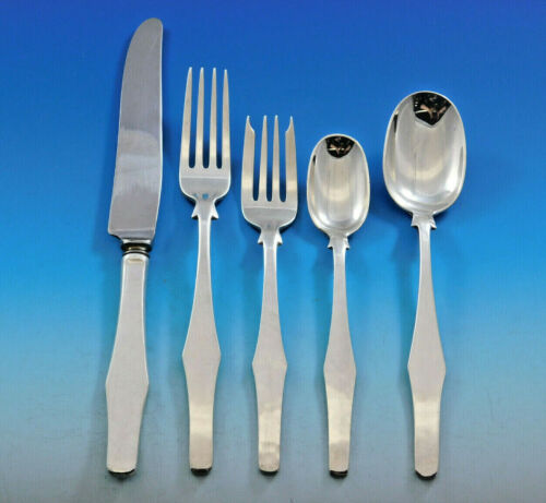 Porter Blanchard Sterling Silver Flatware Set Service Dinner 20 pieces Modern
