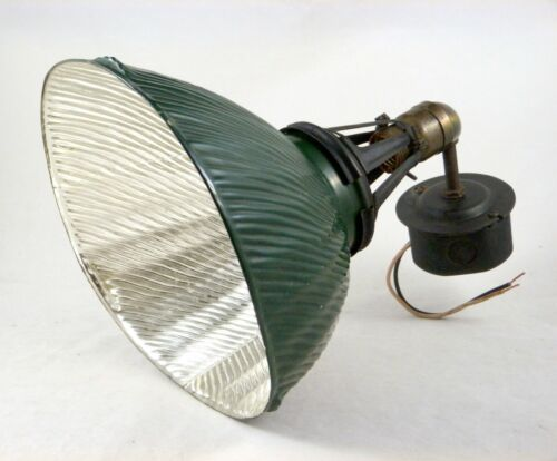 Vtg Curtis 410 Mercury Reflective Shade Lamp Industrial Light Fixture Working