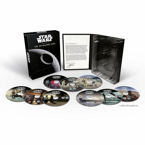 "STAR WARS THE SKYWALKER SAGA COMPLETE COLLECTION DVD BOX SET 9 DISC R4 ""NEW"""