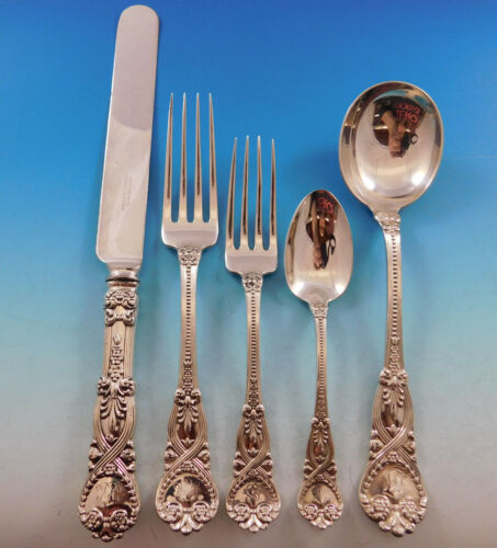 Saint James by Tiffany Co Sterling Silver Flatware Set 12 Service 60 pcs Dinner