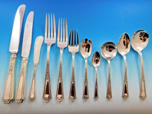 Louis XIV by Towle Sterling Silver Flatware Set for 12 Service Dinner 143 Pieces