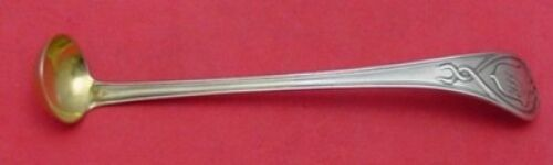 """Le Cordon by Whiting Sterling Mustard Ladle 5"""" Gold-washed"""