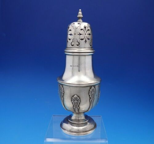 """Elkington Sterling Silver Muffineer with Applied Design 8 1/4"""" #29493 (#4637)"""