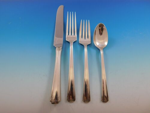 John and Priscilla by Westmorland Sterling Silver Flatware Set Service 36 Pcs