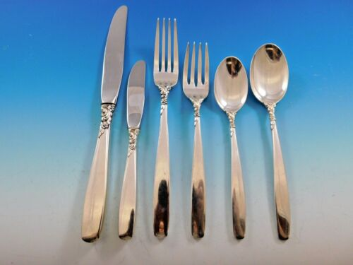 Starfire by Lunt Sterling Silver Flatware Set for 12 Service 78 Pieces