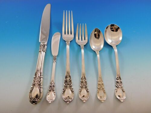 American Victorian by Lunt Sterling Silver Flatware Set for 12 Dinner Service