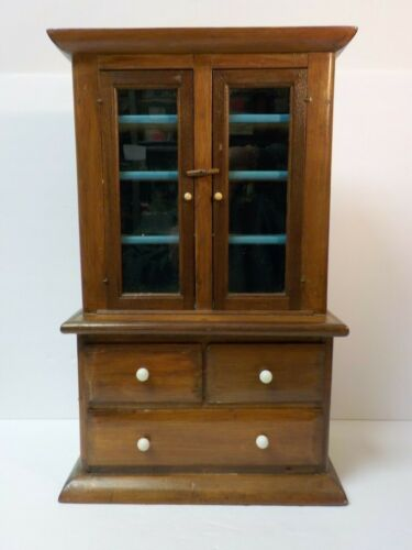 Oak Hand Made Child's Country Step-Back Cupboard, c. early 20th C.