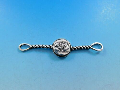 """Medallion aka Etruscan by Shiebler Sterling Silver Watch Fob 3 1/8"""" Antique"""